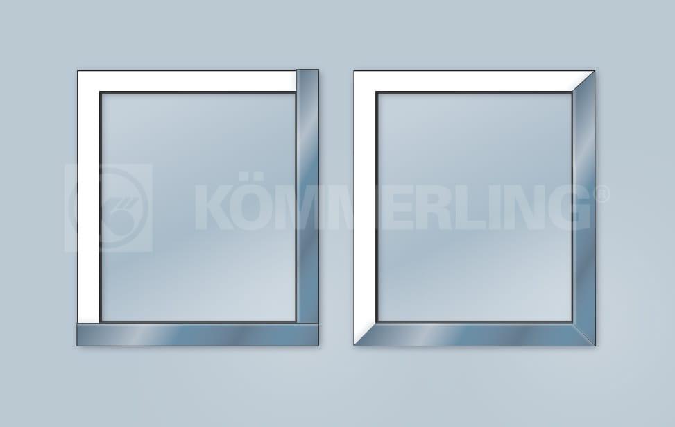 Alu Deckschalen Fenster