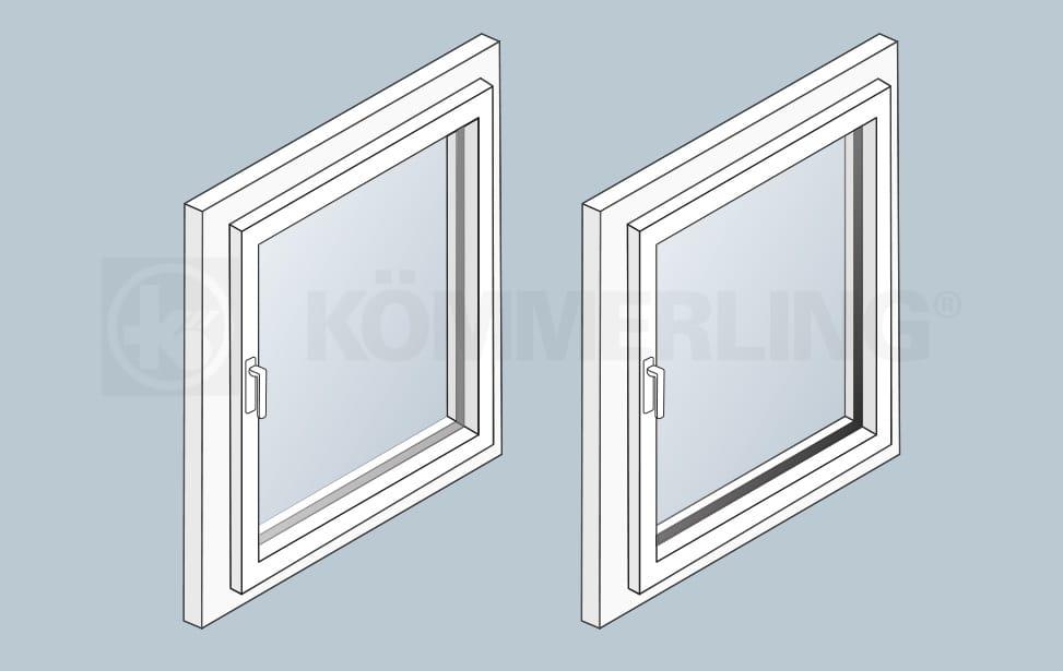 Randverbund Glasscheibe Isolierung