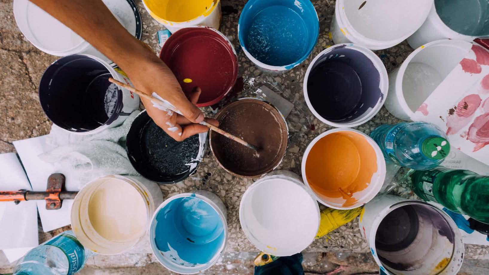 Farben Vielfalt Anstrich