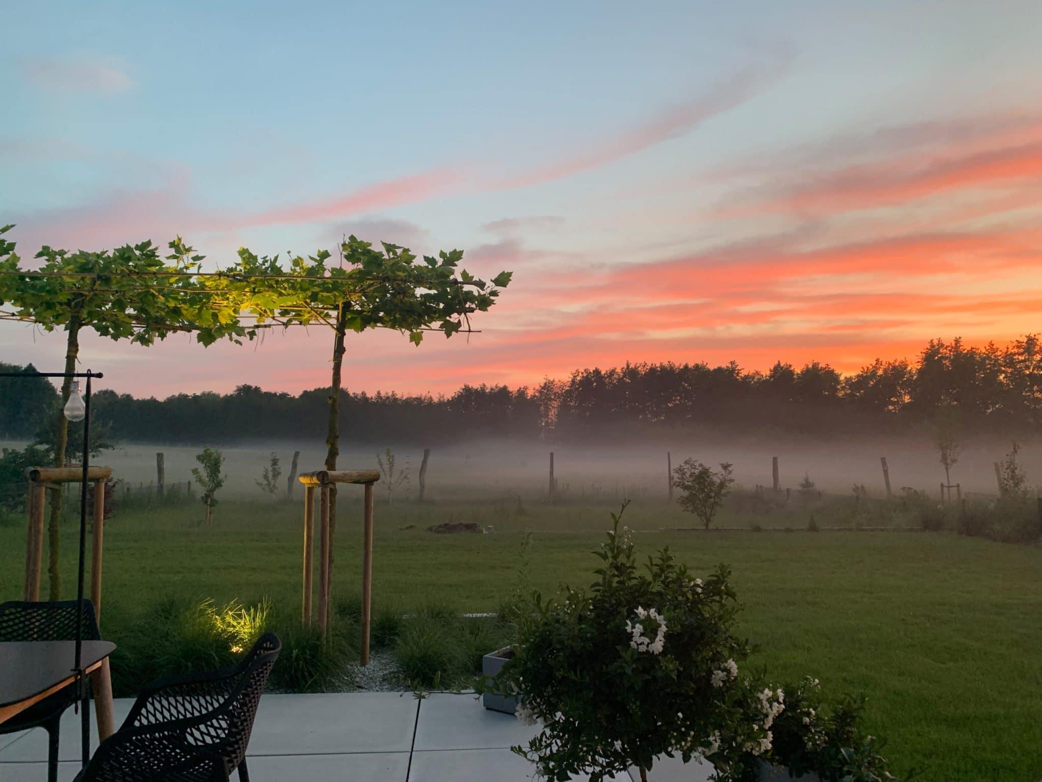 Sonnenuntergang Umwelt Luft